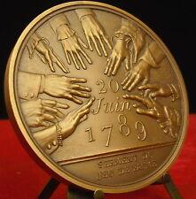 Médaille Serment du jeu de paume par P Rodier medal 铜牌 Révolution française