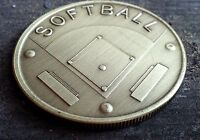 Softball coin Slowpitch Fan Bronze Trophy Medal Umpire gift