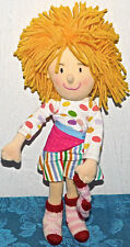 "Madame Alexander Little Miss Matched plush cloth doll 12"" 2006 SOCK YARN LOVEY"
