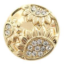 Button Click Druckknopf DG5143 - Gold - kompatibel mit Chunk Armband