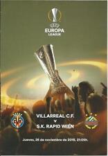 PROGRAMM PROGRAMMHEFTE VILLARREAL-RAPID WIEN AUSTRIA 15-16