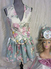 MAD HATTER outfit COSTUME size 8 cosplay UNIQUE fantasy Halloween vest skirt HAT