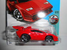 2018 Hot Wheels /'/'Tooned/'/' #181 =Lamborghini Countach= Schwarz /& Grün Int
