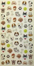 Nail Art 3D Decal Stickers Cute & Adorable Puppies, Dogs & Puppy, Dog Bone LY138