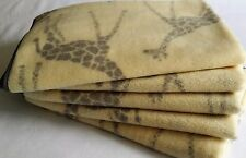 NEW Baby Polar Fleece Blanket Cot Bassinet Crib Wraps Throw Soft Swaddle Giraffe