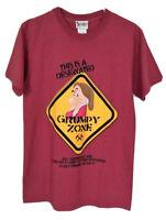 "WALT DISNEY WORLD NWOT ""Grumpy"" Red Cotton Short Sleeve Unisex T-Shirt - Small"