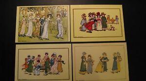 Seven (7x) old Vintage Postcards Kate Greenaway.