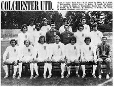 COLCHESTER UNITED FOOTBALL TEAM PHOTO>1972-73 SEASON