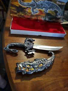 "Fantasy Dragon Dagger 10"" orange Inlay"