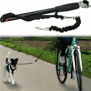 Dog Bicycle Leash Hands Free Lead Pet Walk Train Keeper Bike Attachment