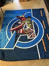 Marvel Avengers Twin Bedding Comforter Blanket Hulk Captain America Iron Man