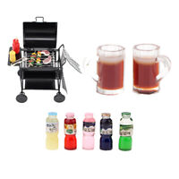 1/12 Barbecue Oven Grill Foods Dollhouse Miniature Furniture Toy Accessories