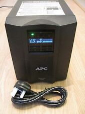 APC SMART-UPS SMT 1000i VA LCD TOWER UPS WITH NEW RBC6 BATTERY & CABLES 0389