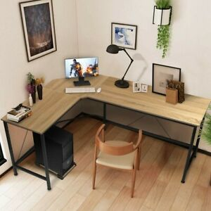 L-Shaped Computer Table - Black