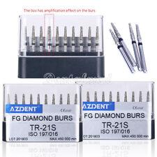 3x Dental High Speed Super Coarse Diamond Burs Tr 21s Taper Round Head 45000rpm