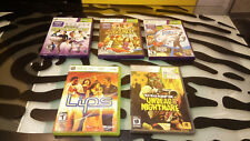 Xbox 360 Lot (6) Kinect Sports Adventure Party Motion Lips Red Dead Just Dance