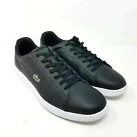 Lacoste Carnaby Evo Mens Fashion Sneakers Black Leather Lace Up Sneaker 12 M