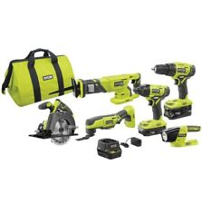 Ryobi Drill/Driver Combo Kit 18-Volt Lithium-Ion Brushed Motor Cordless (6-Tool)