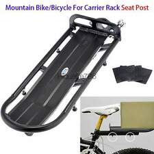 Universal Mountain Cycling Bike Or Bicycle Black Rear For Carrier Rack Seat Post