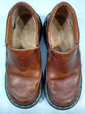 Dr. Martens Womens Brown Leather Slip On Loafer Shoes Size 6 L EU 37