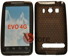 Cover Custodia Per HTC EVO 4G Nero Gel Silcone TPU Diamond