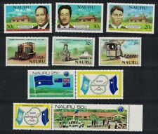 [M41] Nauru Phosphate Mining Locomotives Politicians Flags Collection MNH