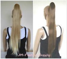 Haarteil Zopf Haarverlängerung  mit Klammer Variante   Glatt 70cm Neu ENWS