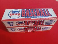Two 1990 Fleer Baseball Complete Factory Sets - 672 Cards And 45 Stickers Each