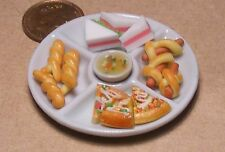 1 12 Scale Party Plate Full of Savouries Dolls House Kitchen BBQ Food Accessory
