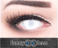 Schwarz - Weiße Crazy Fun Kontaktlinsen für Halloween und Fasching + Behälter