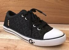 Guess Women's Shoes Black Silver White Sneakers Size 8.5 US Fashion Low Tops