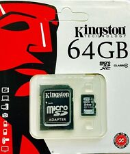 Kingston 64 GB tarjeta micro SD con Adaptador