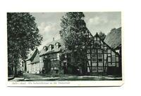 uralte AK Halle in Westfalen Alte Fachwerkhäuser an der Rosenstraße 1956 //37