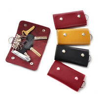 Modish Design Car Key Chain PU-Leather Skin Holder Cover Case Bag Purse Pouch BH
