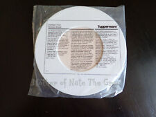 Vintage TUPPERWARE Cool Spot Trivet White With Pink Dusty Rose #2828 NEW Rare