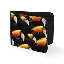 Printed Mens Wallet & Card Holder Toucan birds Mens Travel Wallets