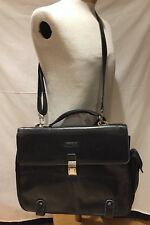 Man Woman Briefcase Black leather coach Messenger  bag