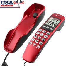 Single Corded Phone Table Desktop Landline Telephone Dual caller ID Call Back US