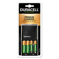 Duracell ION SPEED 4000 Hi-Performance Charger Includes 2 AA and 2 AAA NiMH