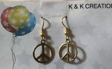 Good Color Peace Sign Earrings