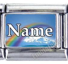 Rainbow Custom Name Pet Loved One 9mm Custom Italian Photo Charm