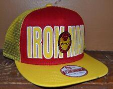 Marvel Comics Iron Man New Era 9Fifty A-Frame Snapback Hat Adjustable Licensed