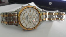 Seiko Perpetual Calendar WORLD TIMER CHRONOGRAPH WATCH 6M15 age of discovery