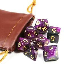 2019 Galaxy Purple & Black Dice Set with Leather Bag - Best Gifts
