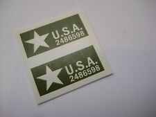 Dinky 654 - 155MM Mobile Gun Stickers [ T2 ] - B2G1F