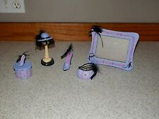 PURPLE Girl's Room Dresser Decor ~ Trinket box ~ Picture Frame ~ Shoe  + More