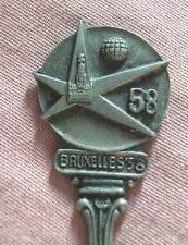 Souvenir silver plated spoon from the Exposition Universelle Bruxelles 1958
