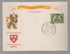 1943 Netherlands postcard Cover perfin stamp 50 years bestaan