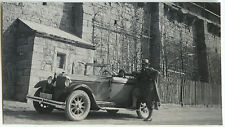 PHOTO ANCIENNE - VINTAGE SNAPSHOT - VOITURE DÉCAPOTABLE TACOT COUPLE - OLD CAR