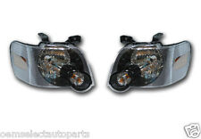 OEM NEW 2006-2010 Ford Explorer BLACK Headlight SET - IRONMAN Lamps- Both Sides